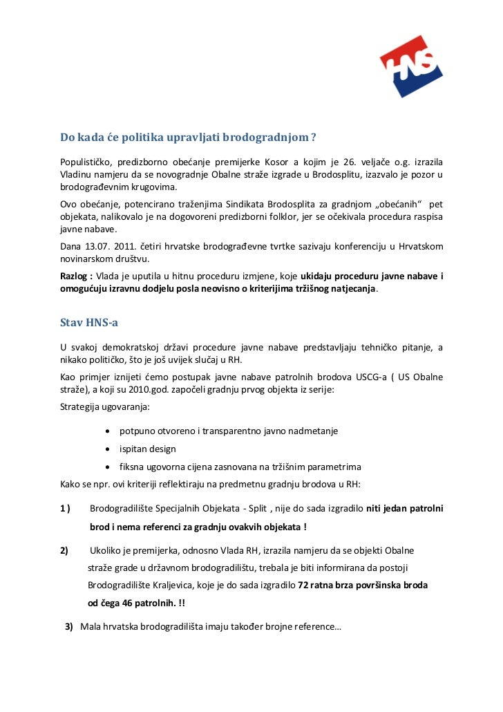 Hrvatska Obalna straža - sažetak za novinare