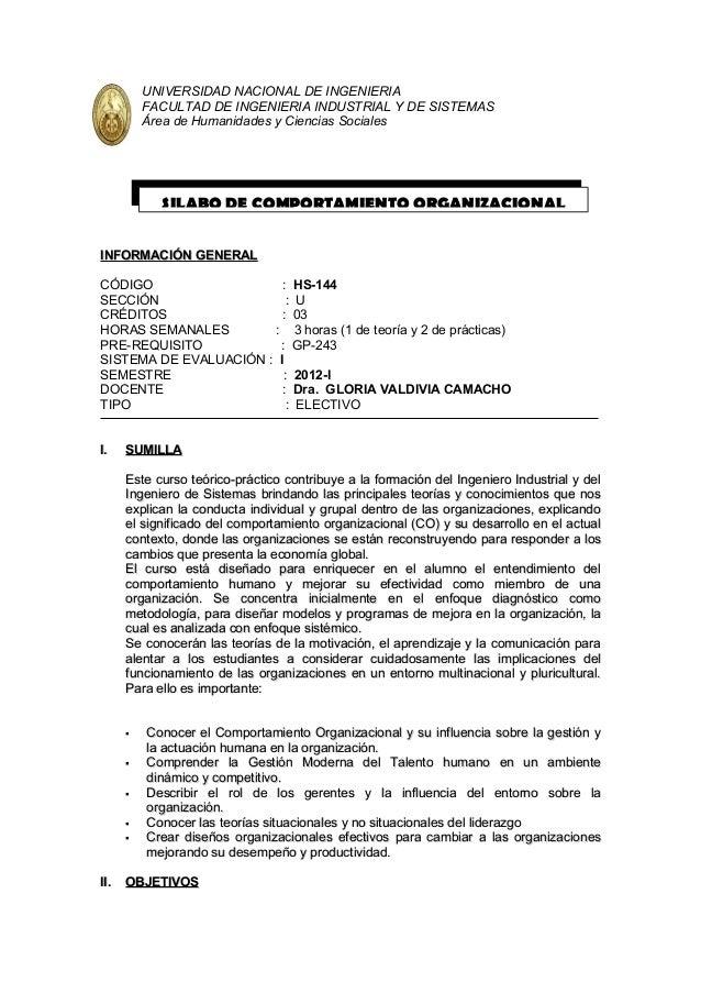 UNIVERSIDAD NACIONAL DE INGENIERIA          FACULTAD DE INGENIERIA INDUSTRIAL Y DE SISTEMAS          Área de Humanidades y...
