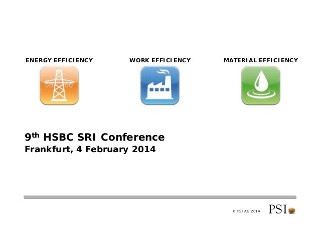 PSI - 9th HSBC SRI/CleanTech Conference