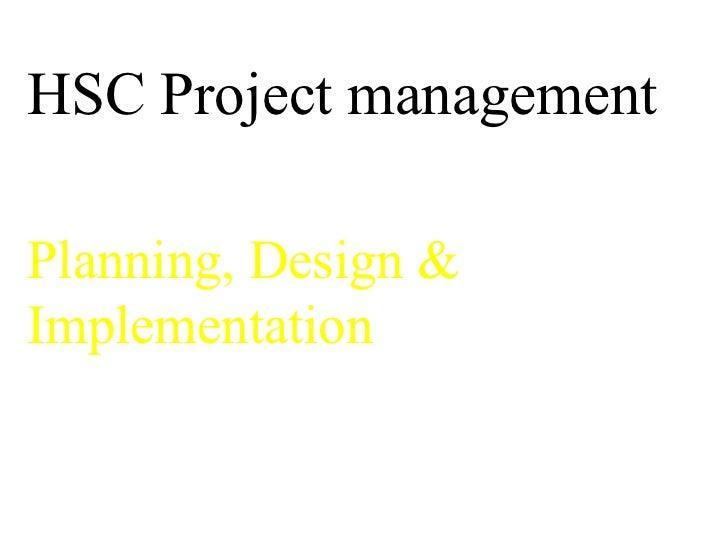 Hsc project management
