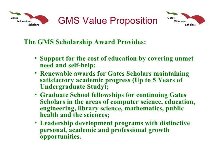 Gms scholarship essays