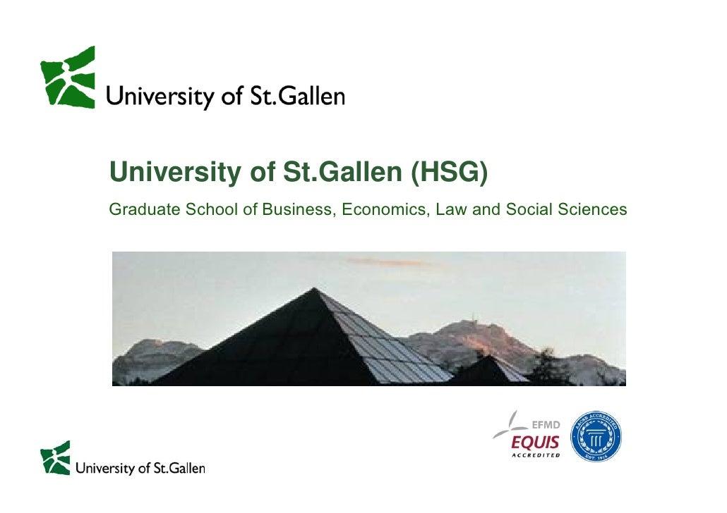 18.12.2009     Page 1                  University of St.Gallen (HSG)              Graduate School of Business, Economics, ...