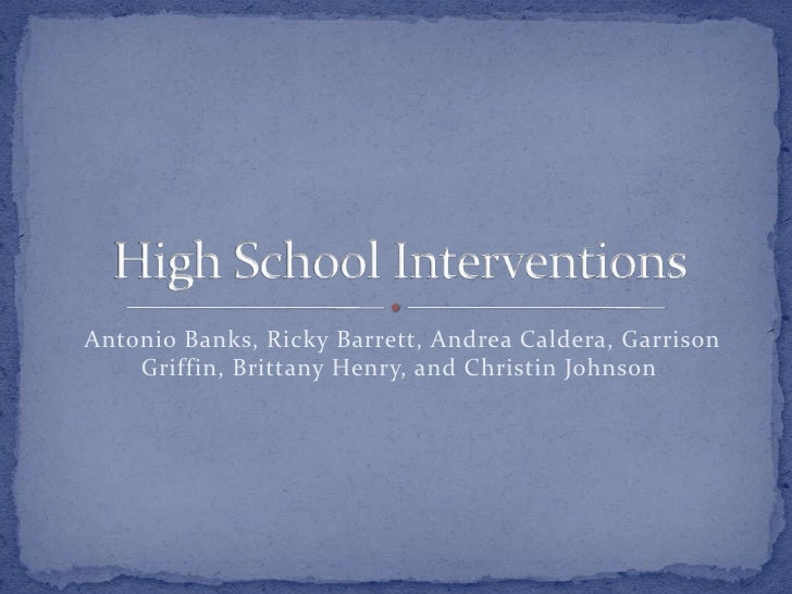 HS Intervention for Maywood