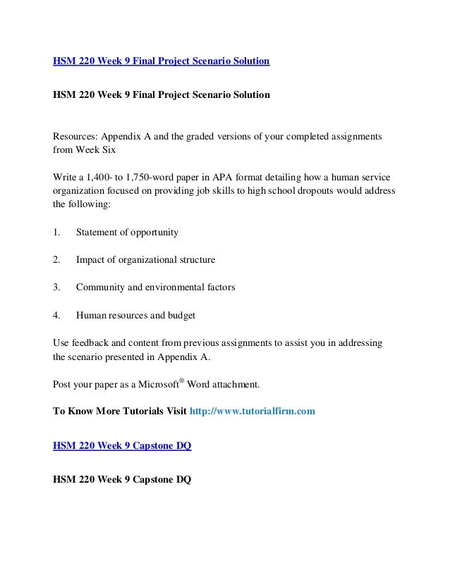 hsm220 final project Title: hsm 220 week 9 final project scenario solution, author: priyarai2031, name: hsm 220 week 9 final project scenario solution, length: 2 pages, page.