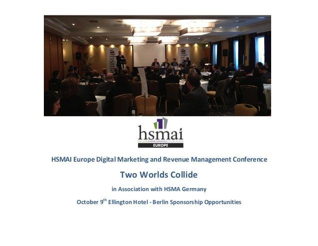 HSMAI  Europe  Digital  Marketing  and  Revenue  Management  Confe...