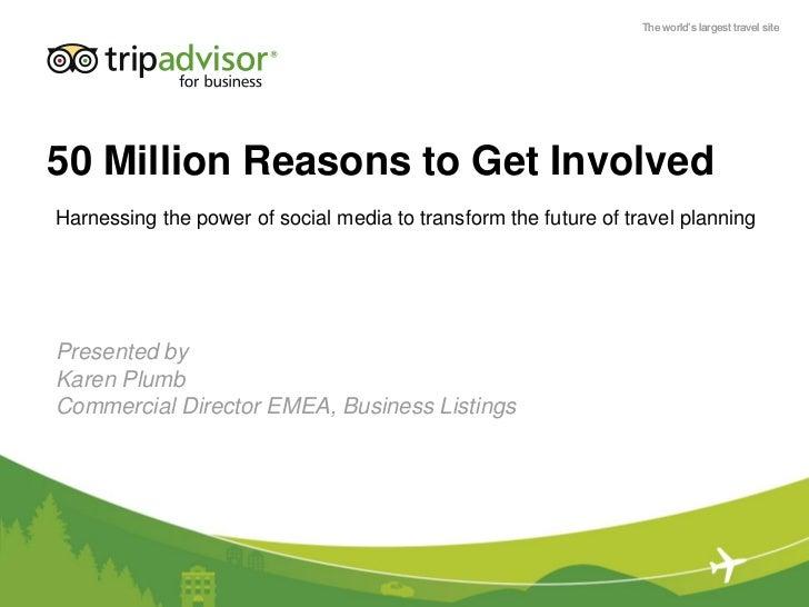 Hsmai reiselivsdagen 2011 presentasjon trip advisor