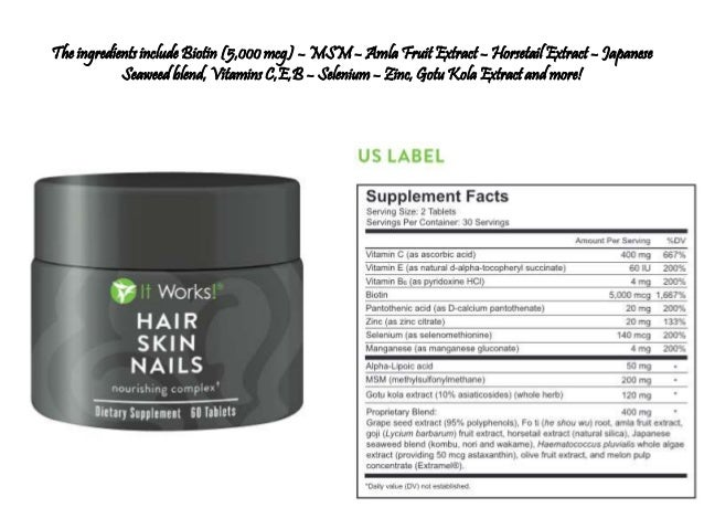 ingredients it works hair skin nails review results