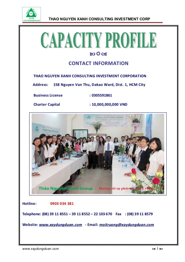 THAO NGUYEN XANH CONSULTING INVESTMENT CORPORATION