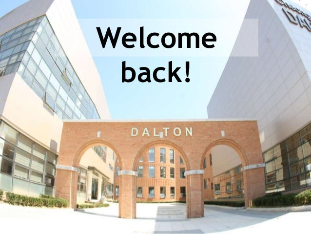 CDS New Student Orientation Welcome back!