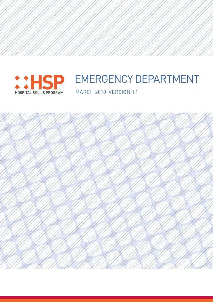 EMERGENCY DEPARTMENTMARCH 2010 VERSION 1.1