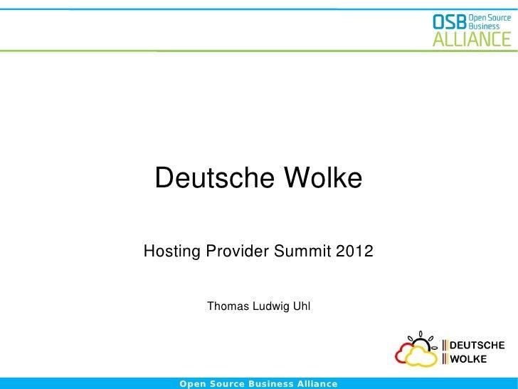 Hosting Provider Summit Mai 2012