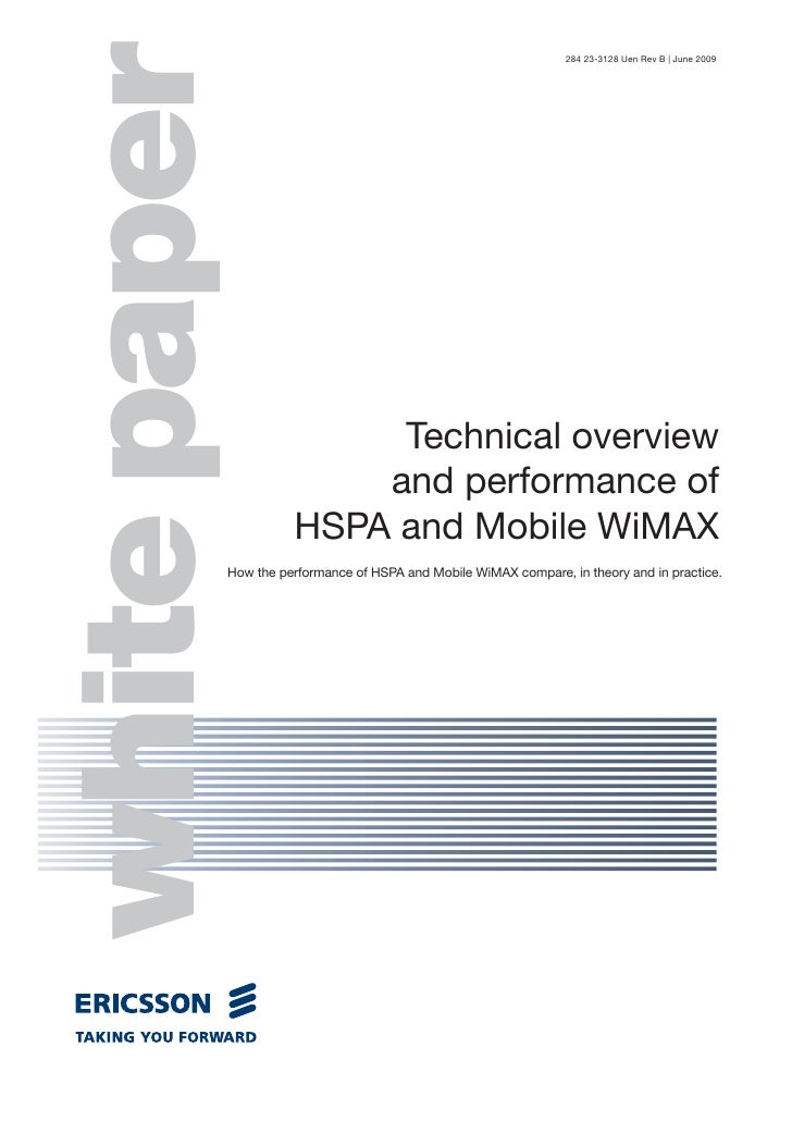 Hspa And Mobile Wimax