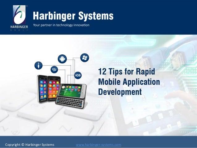 12 tips for rapid mobile app development