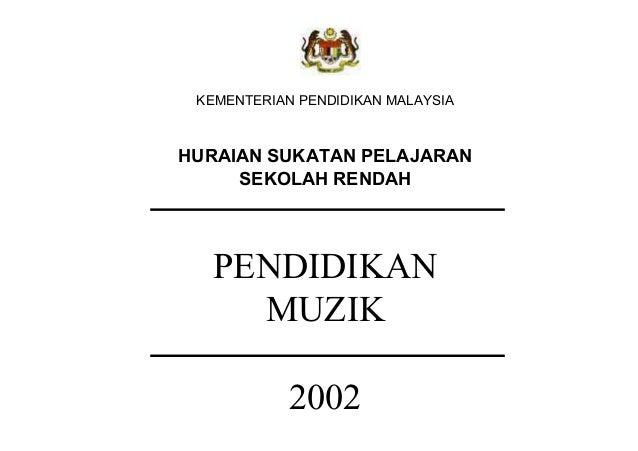 HURAIAN SUKATAN PELAJARAN     SEKOLAH RENDAH  PENDIDIKAN    MUZIK         2002