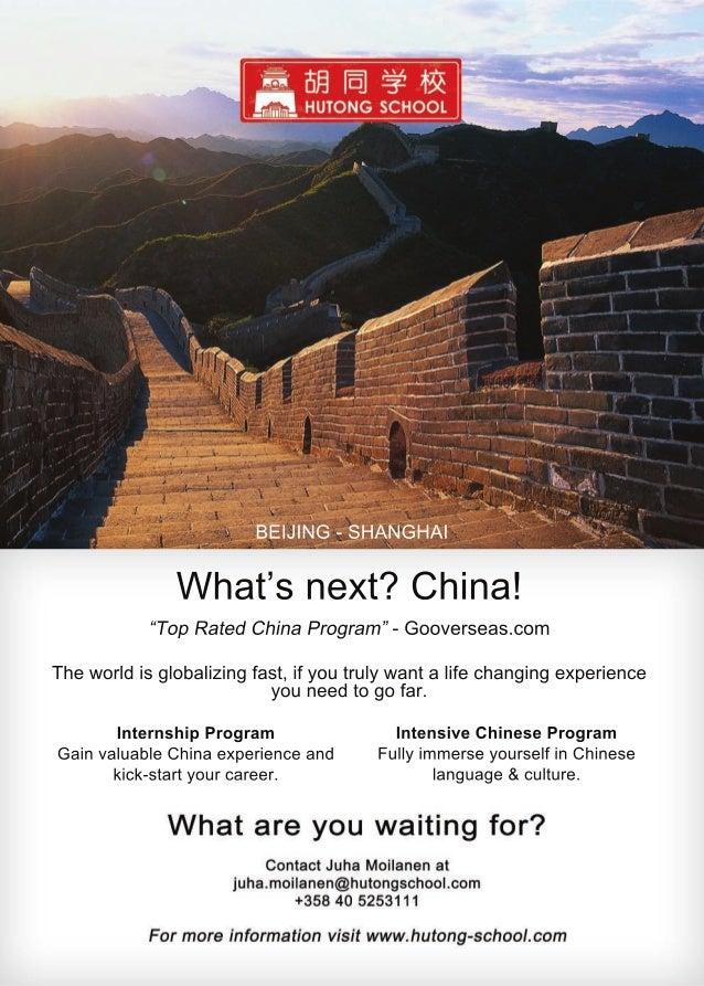 BEIJING-SHANGHAI IntensiveChineseProgram FullyimmerseyourselfinChinese language&culture. InternshipProgram GainvaluableChi...