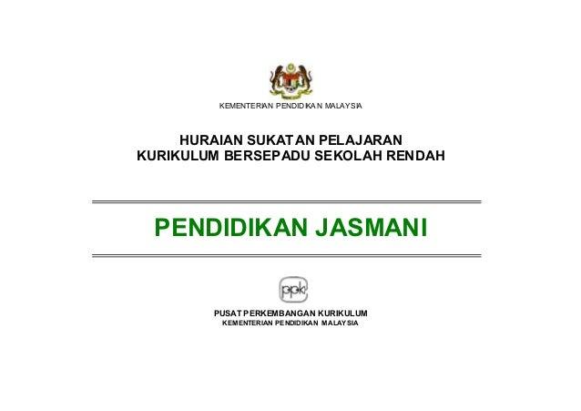 KEMENTERIAN PENDIDIKA N MALAYSIA  HURAIAN SUKATAN PELAJARAN KURIKULUM BERSEPADU SEKOLAH RENDAH  PENDIDIKAN JASMANI  PUSAT ...