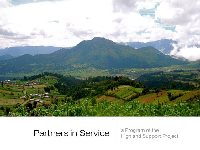 Partners in Service  a Program of the Highland Support Project