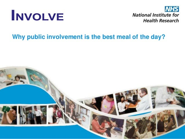 Why public involvement is the best meal of the day?