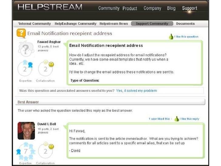 Helpstream Screenshots