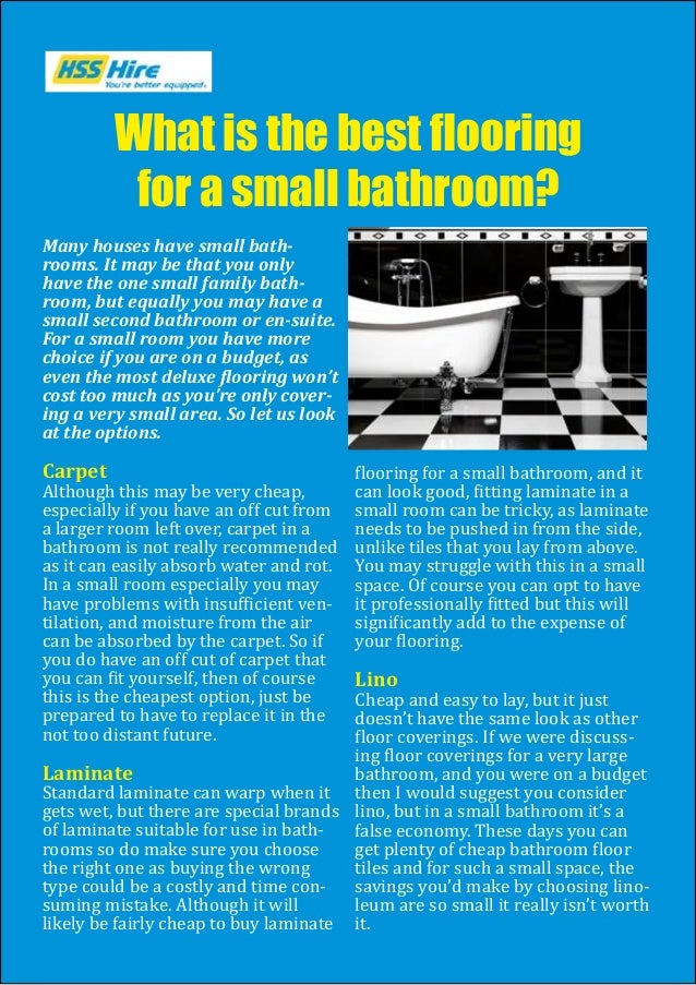 Many houses have small bath- rooms. It may be that you only have the one small family bath- room, but equally you may have...