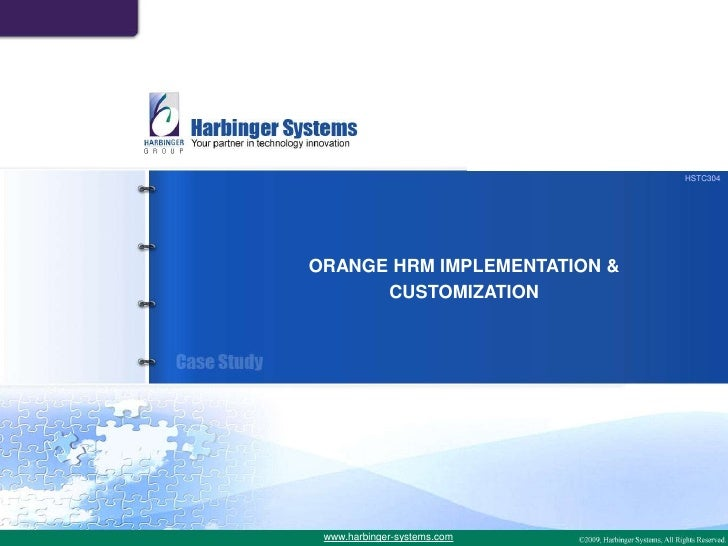 OrangeHRM Open Source Implementation and Customization