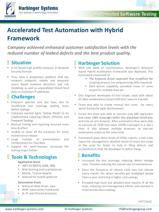 Accelerated Test Automation with Hybrid Framework