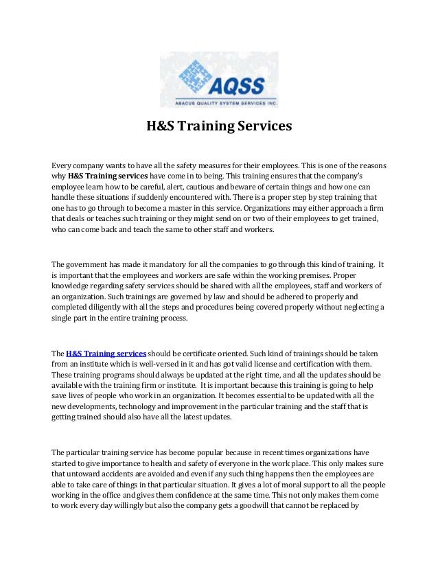 H&S Training Services Every company wants to have all the safety measures for their employees. This is one of the reasons ...