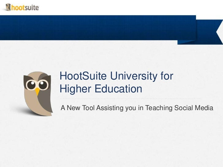 HootSuite University for Higher Education