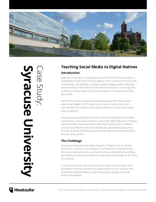 HootSuite University - Newhouse Case Study