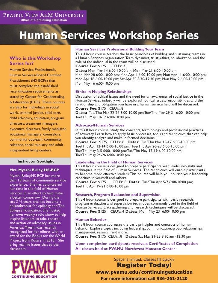 Human Services PVAMU Continuing Education Myeshi Briley,HS-BCP