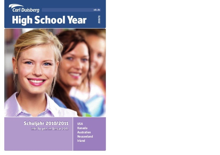 cdc.deHigh School Year                                                   2010/11  Schuljahr 2010/2011              USA    ...