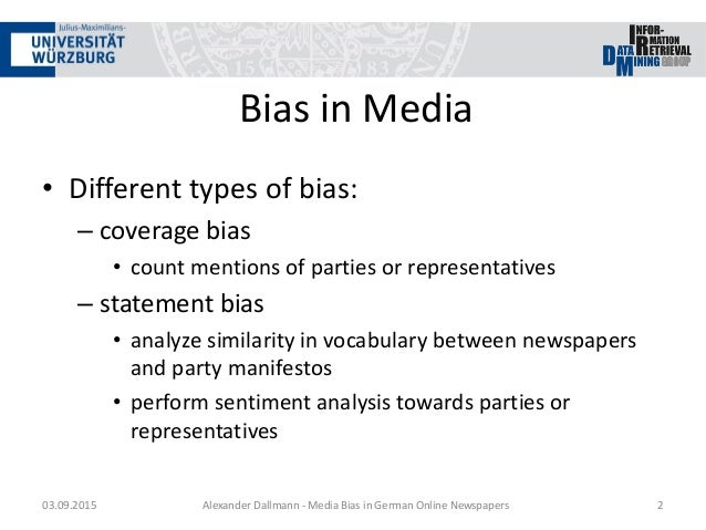 bias media coverage essay Racial bias in the media: does news coverage favor whites sharoniarina white media bias essay media bias in politics.