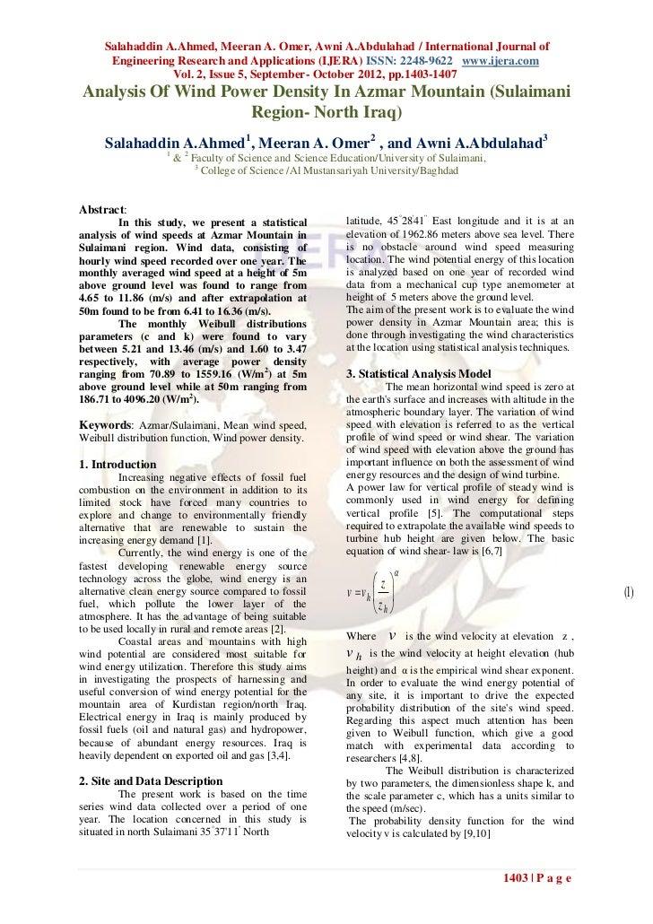 Salahaddin A.Ahmed, Meeran A. Omer, Awni A.Abdulahad / International Journal of      Engineering Research and Applications...