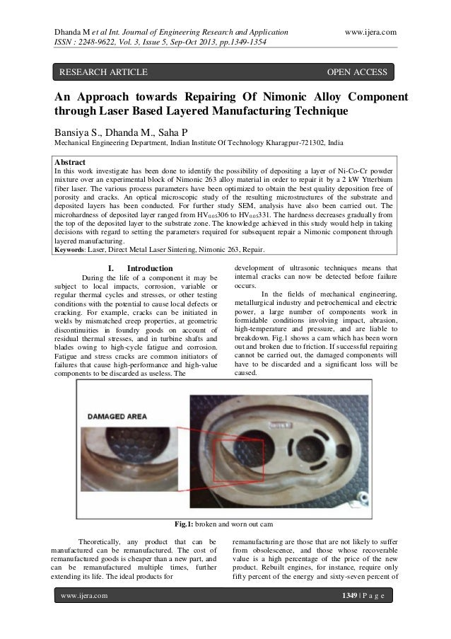 Dhanda M et al Int. Journal of Engineering Research and Application ISSN : 2248-9622, Vol. 3, Issue 5, Sep-Oct 2013, pp.13...