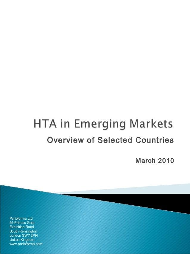 Hta in emerging markets