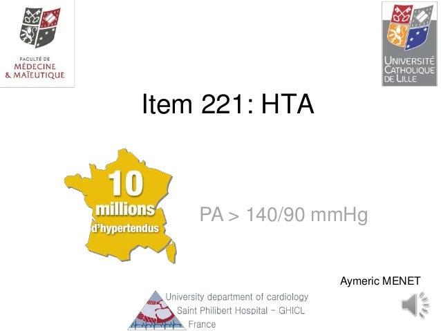 Item 221: HTA Aymeric MENET PA > 140/90 mmHg