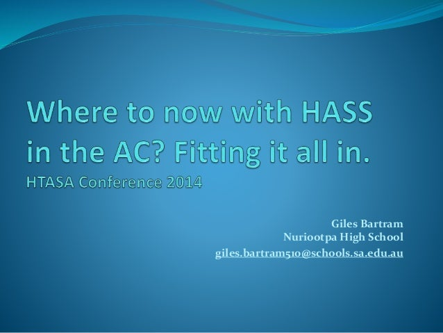 where to now in HASS