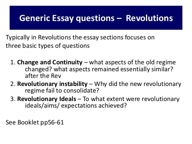 French revolution essay questions