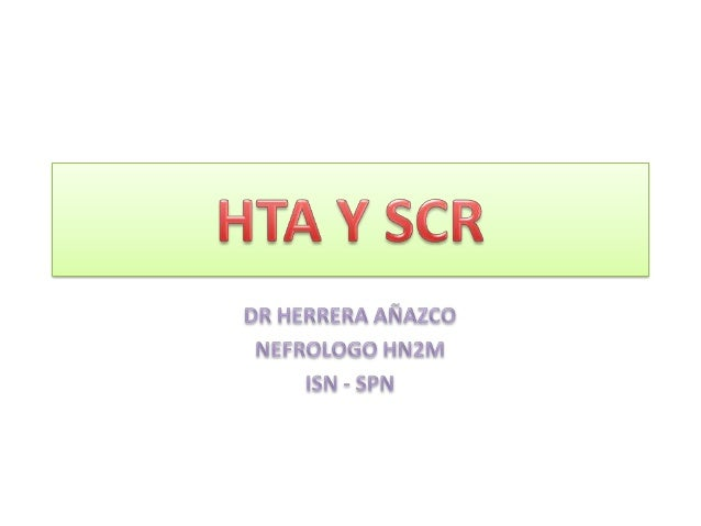• Prevalencia de HTA en población general: 30%• En DM2 : 51% y el 93% si tiene ERC• El 40% de los pacientes con FG < 60 ml...