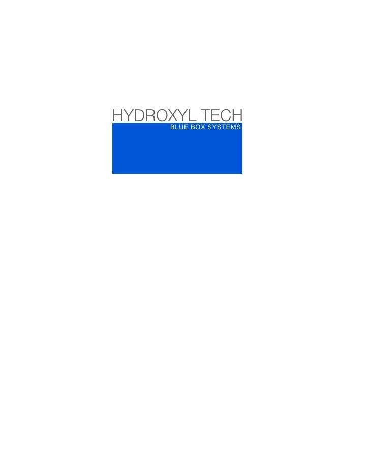HYDROXYL TECH Blue Box Brochure