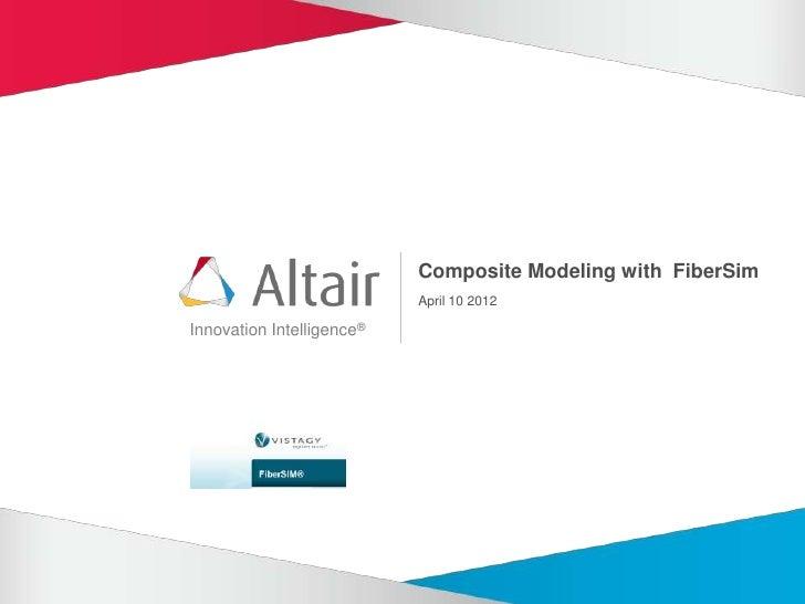 Composite Modeling with FiberSim
