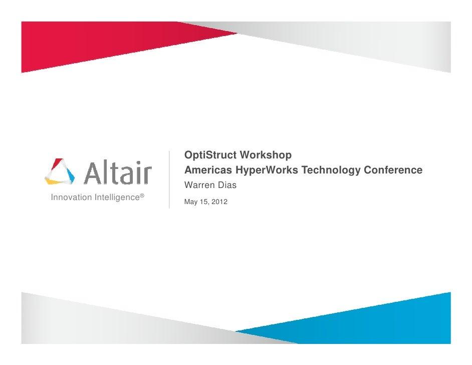 Altair HTC 2012 Optistruct Training