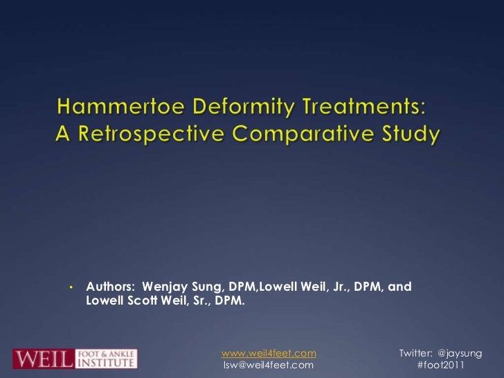 Hammer Toe Correction Comparative Study