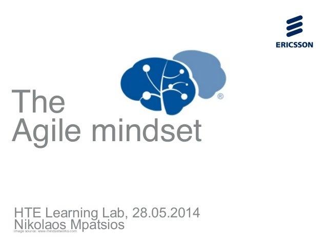 ! ! ! ! ! ! ! ! ! ! ! ! The  Agile mindset HTE Learning Lab, 28.05.2014 Nikolaos Mpatsiosimage source: www.mindsetworks.c...