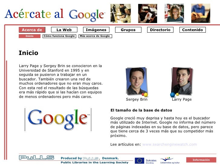 Acércate al Google