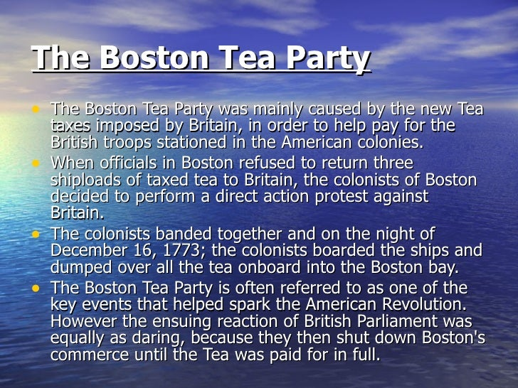 a revolution sparked by the tea The american revolution was a colonial revolt that took place between 1765 and 1783 the american patriots in the thirteen colonies won independence from great.