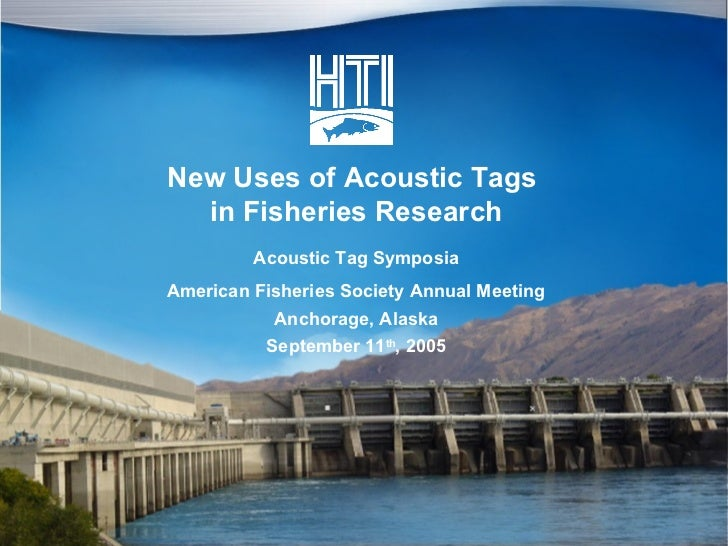 HTI Acoustic Tags To Track Fish