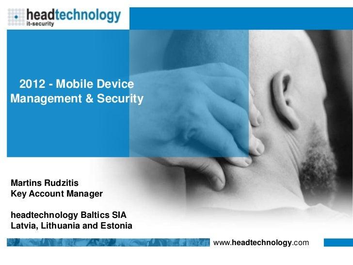 MDM Security Management - MobileIron - August 2012