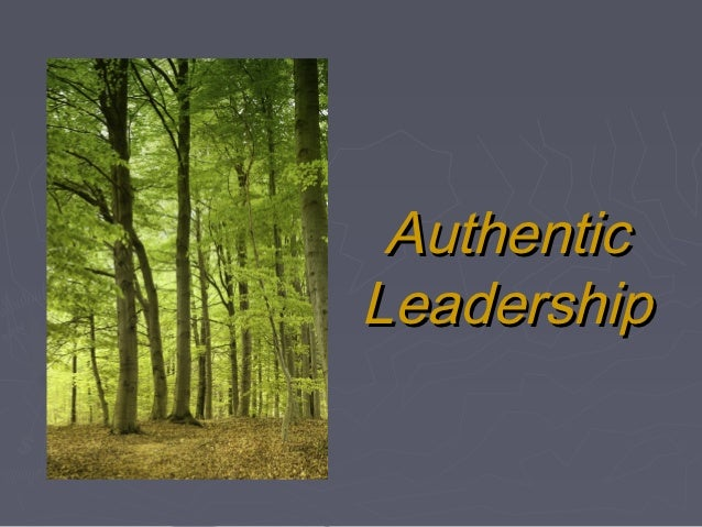 Htm491 authentic leadership
