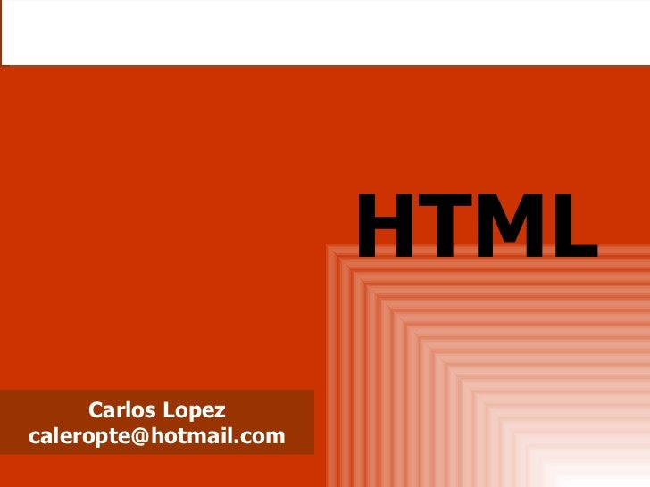 Carlos Lopez [email_address] HTML